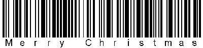 A Merry Christmas barcode.