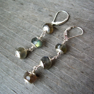 labradorite dangly earrings