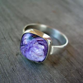 charoite ring jewelry