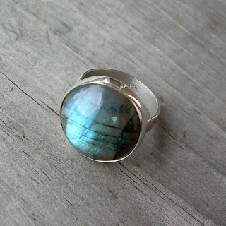 large labradorite ring