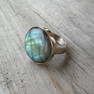 labradorite pinky ring