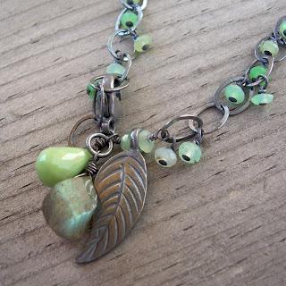 chrysoprase labradorite bracelet
