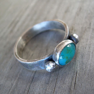 chrysocolla ring silver