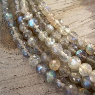 faceted labradorite beads