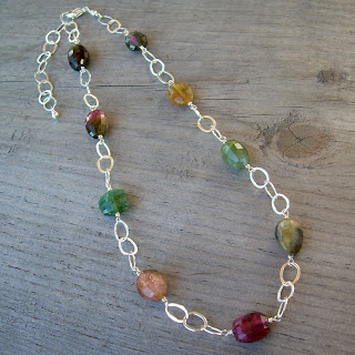 tourmaline chain necklace