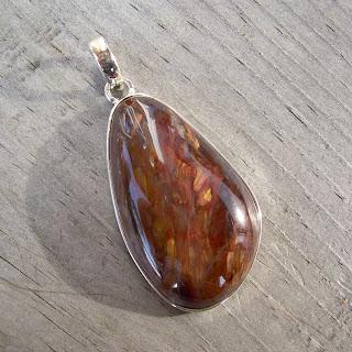 freeform pietersite pendant