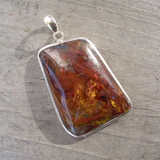 silver pietersite pendant