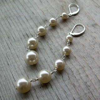 vegan pearl earrings
