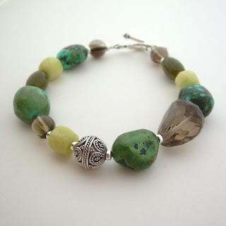 turquoise lemon bracelet