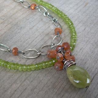 sunstone vasonite necklace