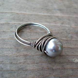 vegan pearl ring
