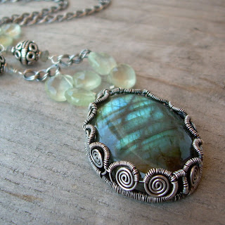 fancy labradorite necklace