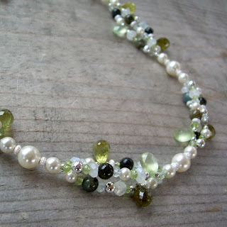 green bridal jewelry