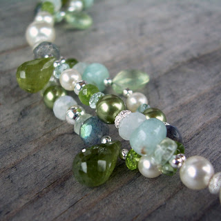 green bridal necklace