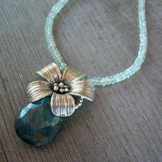 labradorite flower necklace