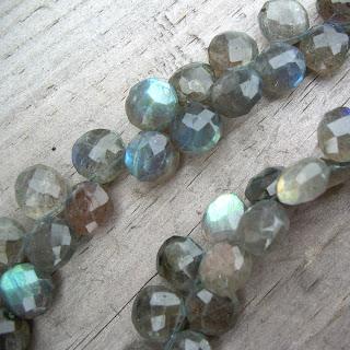 labradorite briolette bead