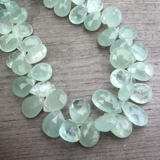 aquamarine bead briolette