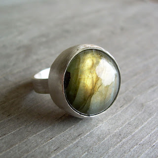 labradorite ring blue