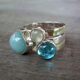 stacking rings blue