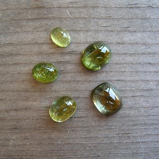 green tourmaline cabochon