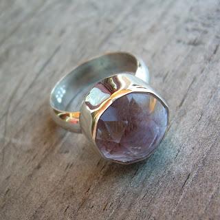 pink amethyst ring
