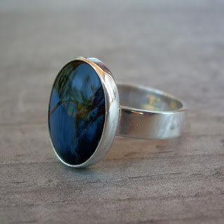 blue pietersite ring