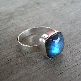recycled silver labradorite