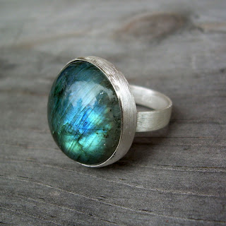labradorite cocktail ring