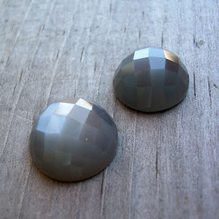 grey moonstone cabochon