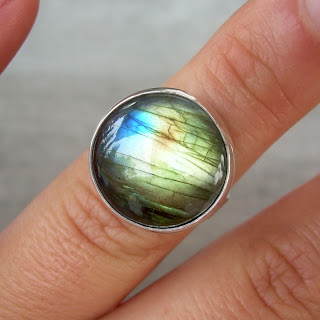 labradorite recycled silver
