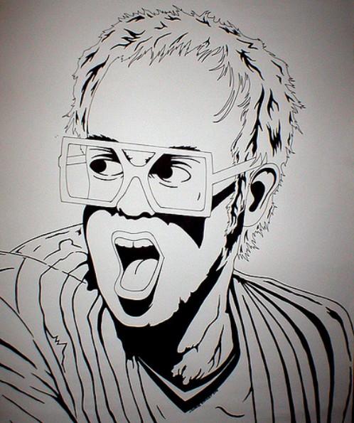 Elton John´s Pics: Elton John Drawing