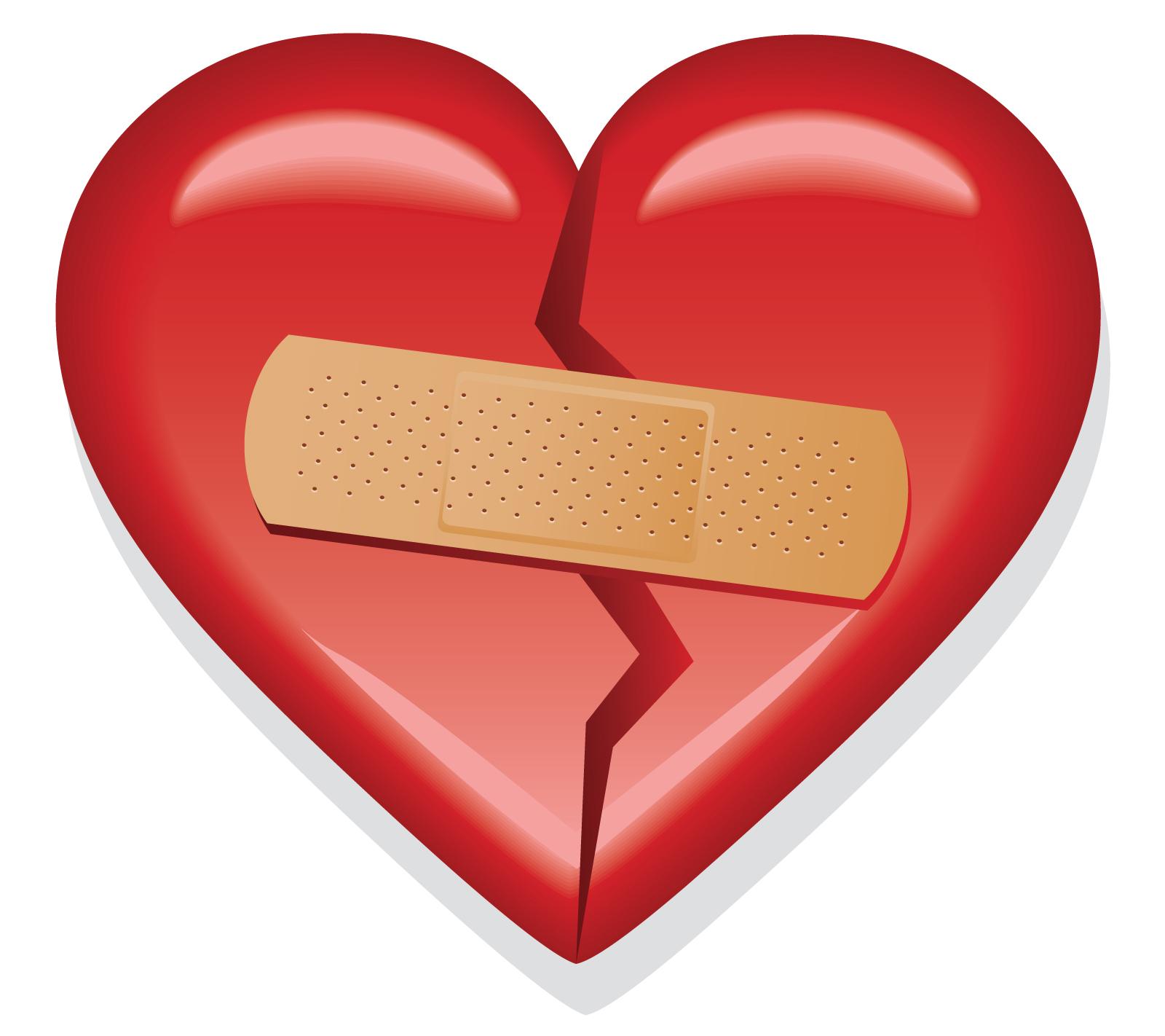 Сердце с пластырем картинки