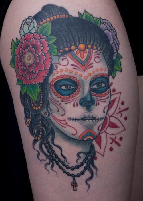 Sugar Skull Pin Up Tattoo Designs