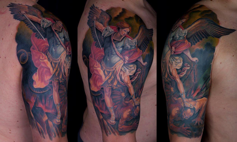 St Michael Tattoo: St. Michael Tattoo Designs - 27 Perfect Examples