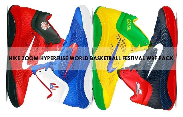 932ca942b3c Nike Zoom Hyperfuse 2010 FIBA World Championship Collection  Puerto Rico   Brazil  Canada  Tony Parker