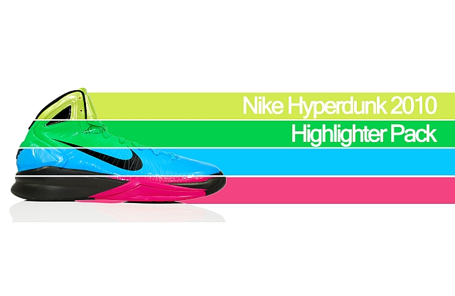 d14fb4498c51 Nike Hyperdunk 2010 Highlighter Pack Electric Green  Neon Yellow  Vivid  Blue  Vivid Pink