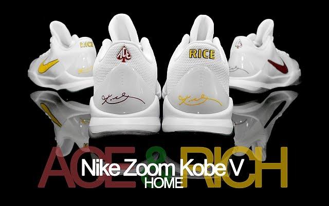 08b505e99d60 Nike Zoom Kobe 5 V Rice High School RICE (Home) 386429-107   Lower Merion  ACE (Home) 386429-106