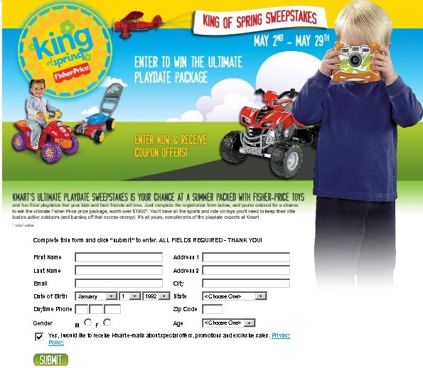 Kmart Offers King Of Spring Sweepstakes