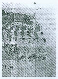 Dalam lukisan ini orang-orang Moors yang berkhidmat dibawah Raja