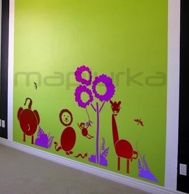 Mapiurka adhesivos decorativos ba murales infantiles en vinilo - Vinilos murales infantiles ...