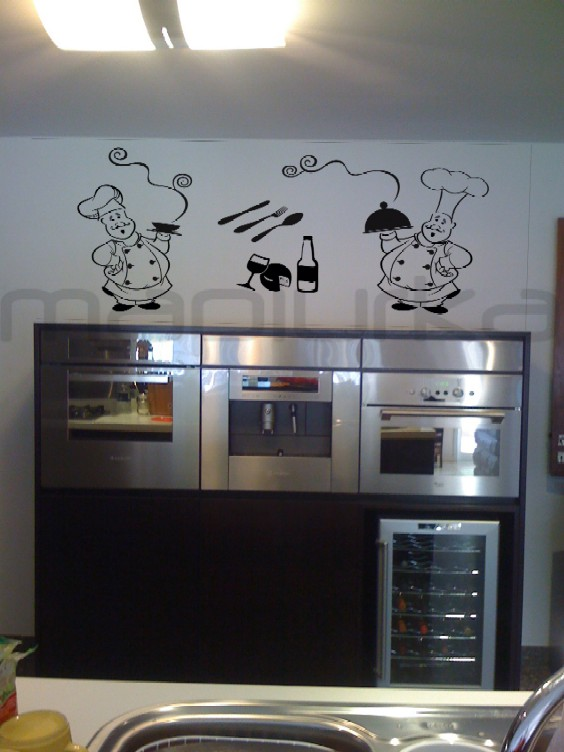 Mapiurka   adhesivos decorativos ba: chefs en la cocina (kitchen)