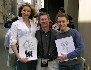 Two of the Producers cast with Peter.