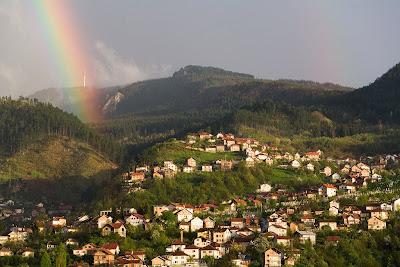 Sarajevo Rainbow At Sunset