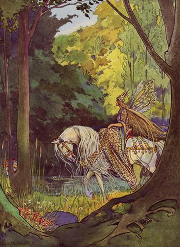 Die Elfenkönigin beim Ritt durch ihr Reich