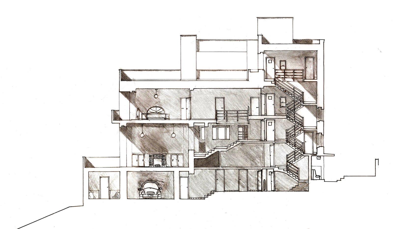 Xiaonan Quan: Parti & Poché diagram of Villa Müller