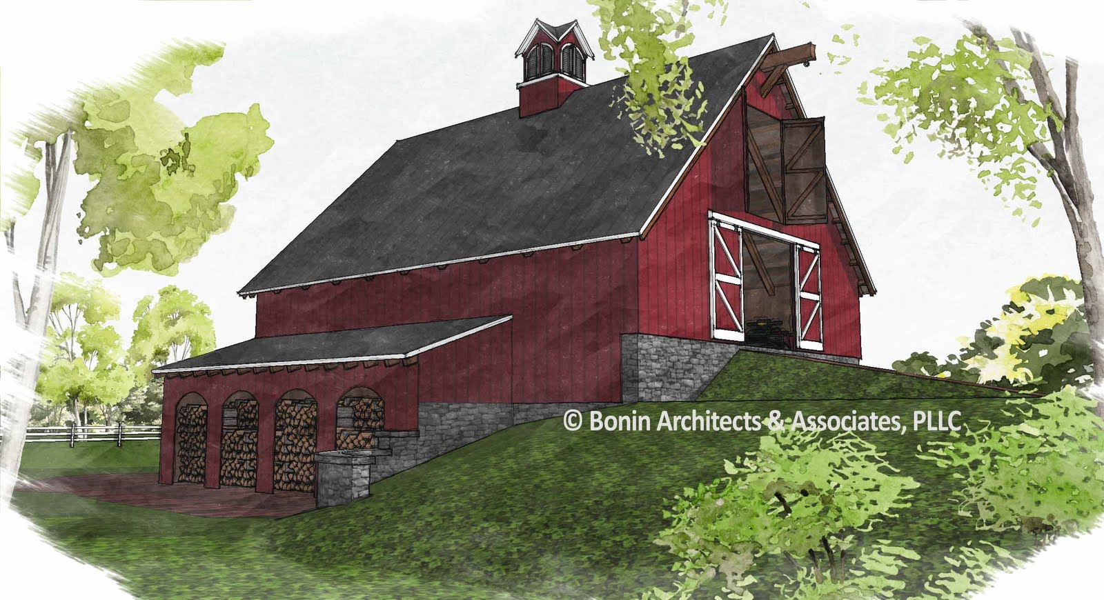 timber frame barn - photo #47