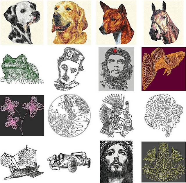 system embroidery designs - Unusual Machine Embroidery Designs