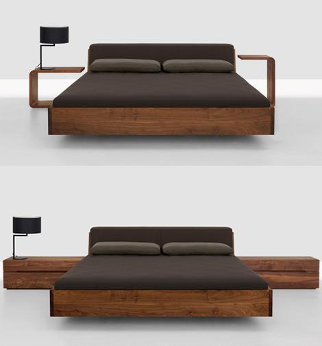 Modern Wood Bed Frames: Home Design & Decorating: Solid Wood Beds