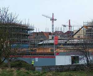 a construction site for yet more Flats