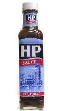 a bottle of HP Sauce